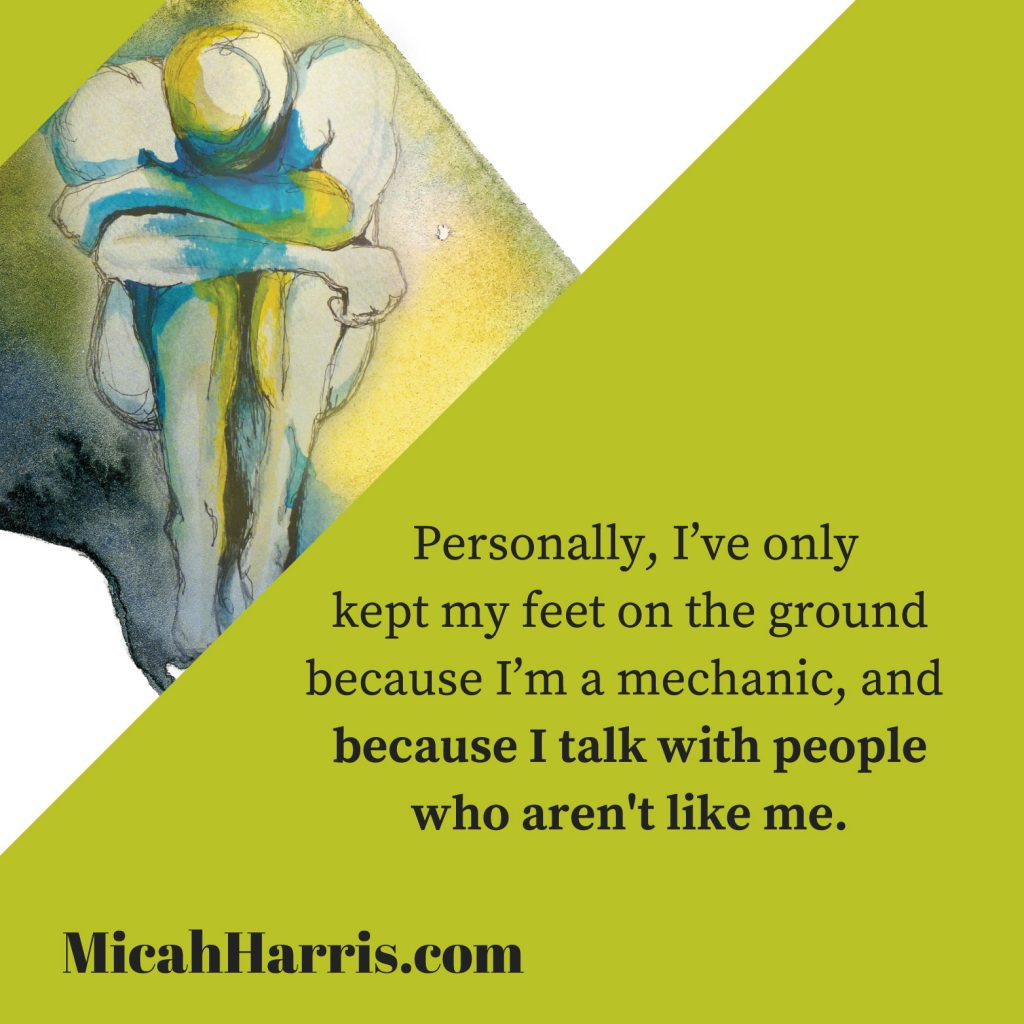 MicahHarris.com I've only kept my feet on the ground because...